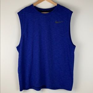 Nike Dri Fit Blue and Black Tank Size Extra Large